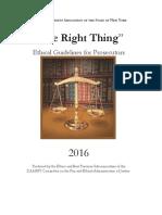 2016 Ethics Handbook