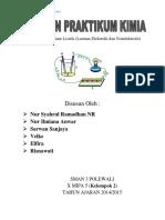 Laporan Praktikum KIMIA (Larutan Elektrolit Dan Nonelektrolit)