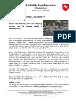 Masterarbeit Vogelwarte Helgoland