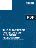 Fellowship Criteria and Guidance Notes