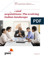 Mergers and Acquisitions the Evolving Indian Landscape