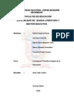 Concepción Filosófica Integral de la Educación
