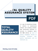 Tqm Total Quality Assurance Report