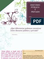 DISCURSO PÚBLICO Y PRIVADO