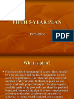 5th Five Year Plan Ppt