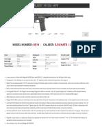 Ruger AR-556 MPR Spec Sheet