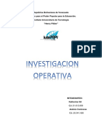 Investigacion de Operacion