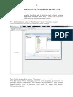 Crear Un Formulario de Datos en NetBeans Java