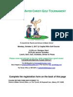Mater Christi 2017 Golf Tournament
