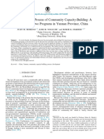 Understanding the Process of Community Capacity Building