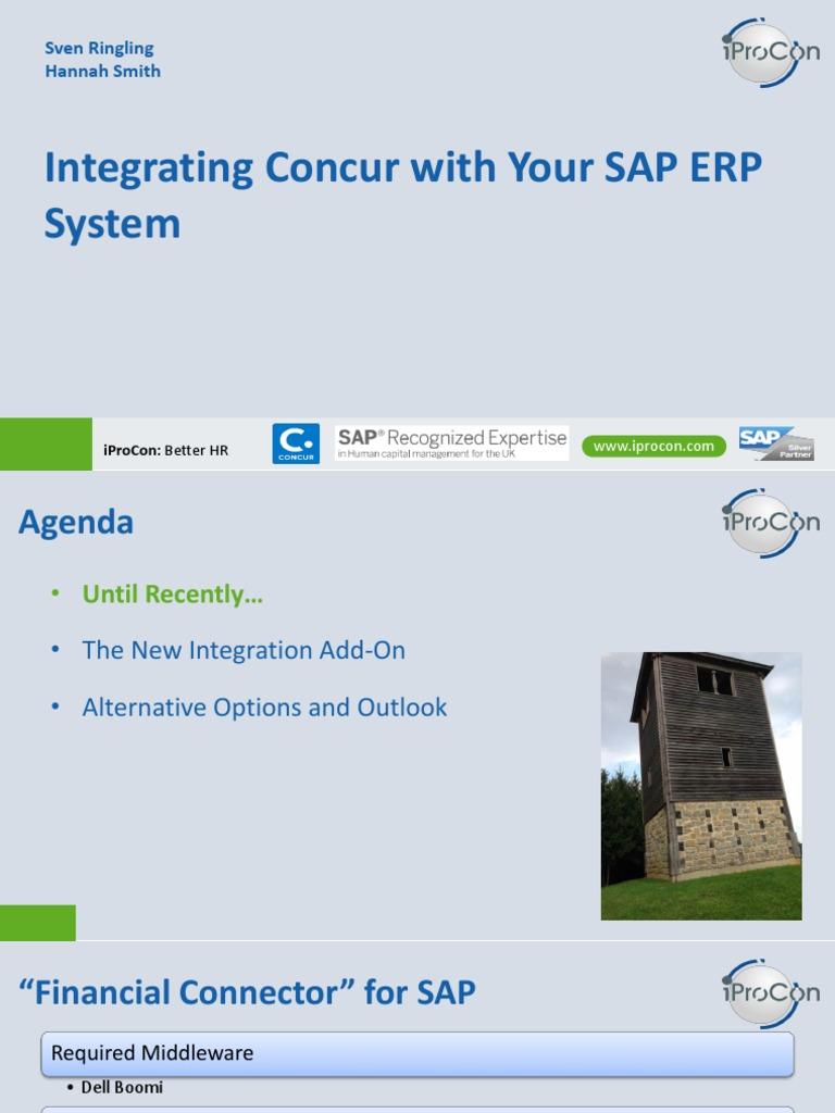 Concur-SAP-ERP-Integration pdf | Payroll | Information Technology