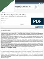 Encuentra Aquí Información de Los Misterios Del Capital; Hernando de Soto Para Tu Escuela ¡Entra Ya! _ Rincón Del Vago