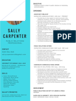 sally carpenter resume