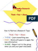 Week 6 Narrowing a Topic