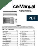 Panasonic Cs-A9ekh Cu-A9ekh Cs-A12ekh Cu-A12ekh Service Manual Repair Guide