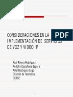 Consideraciones en La Implementación de Servicios de Voz y Video IP