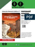 Promo Esperare Siempre Tu Regreso (Desfiladero Ediciones) Prensa