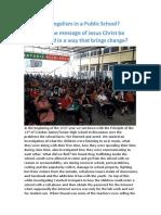 evangelism in a public school