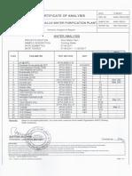 Appendix E Water Certificate