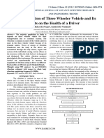 Study of Vibration of Three Wheeler Vehicle and Its Effects on the Health of a Driver