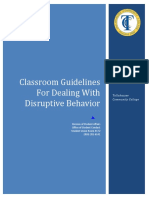 (Guidelines for Dealing With Disruptive Behavior) Student Conduct