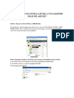 Crear Una Plantilla HTML o Css a Una Master Page