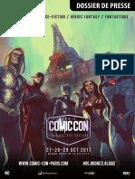 Comic Con Paris 2017- Dossier de Presse BD