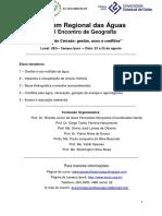 Anais Forum Regional Das Aguas 2017