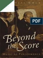 Nicholas Cook-Beyond the Score_ Music as Performance-Oxford University Press (2014)