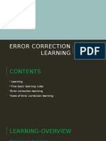 Error Correction Learning