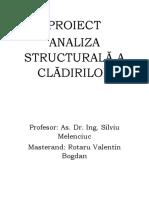 Analiza Structurala a Cladirilor
