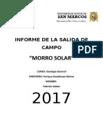 Informe de La Salida de Campo