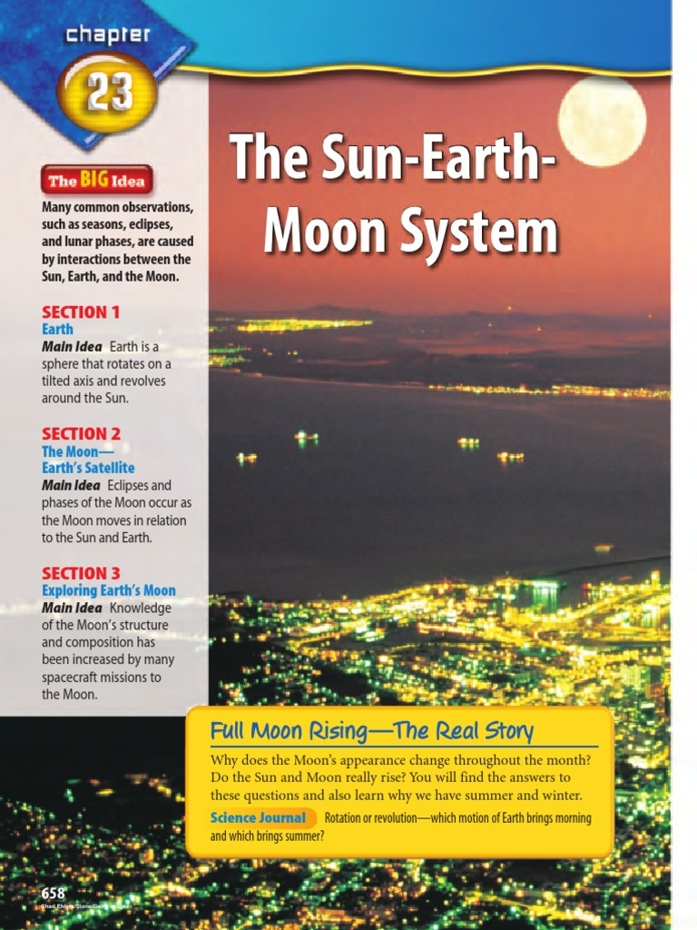 Chapter 23 The Sun Earth Moon System Solar Eclipse Moon