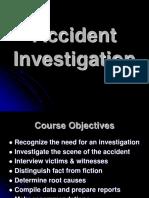 - Accident Investigation