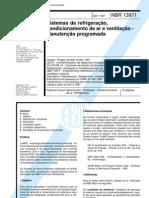 NBR 13971 - Sistemas de Refrigeracao Condicionamento de Ar e Ventilacao - Manutencao Program Ada
