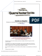 Para Evitar Una Guerra Nuclear Con Irán - Discurso de Fidel Castro en Parlamento Cubano - Agosto 2010