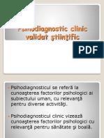 Psihodiagnostic Si Evaluare Clinica Validate Stiintific