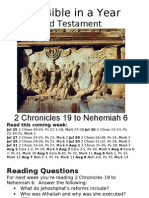 Bible in a Year 37 38 OT 2 Chronicles to Nehemiah 6