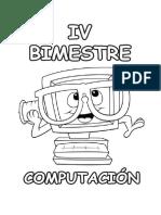 Portada Caratula Curso de Computación - IV Bim