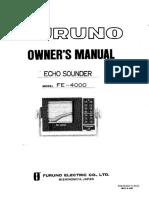 manual radar fe4000