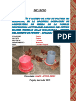 Proyecto Productivo de Aves - 2015