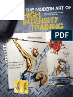 The Modern Art of High Intensity Training