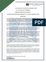 RO# 072-S - A Los Sujetos Pasivos Del Impuesto a La Salida de Divisas (ISD) (5 Sept. 2017)