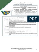 Intro Geo 1- Measurement, Perimeter, Area