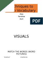 Techniques to Teach Vocab