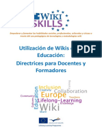 WikiSkills D3.4 Guidelines for Teachers and Trainers ES