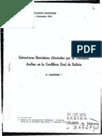 Estructuras Hercinicas Afectadas Por La Tectonica Andina-bolivia