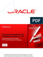 OOW2012 - CON9190 - Peoplesoft Test FrameWork
