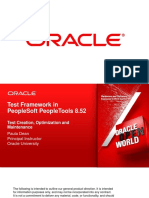 OOW2012 - CON9107 - Test Framework in PeopleTools 8.52