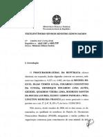 Cota da denúncia da PGR contra Michel Temer